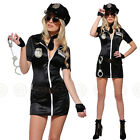 SEXY 8PC POLICE WOMAN FANCY DRESS OUTFIT COSTUME COP UNIFORM LADIES OFFICER