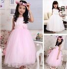 Fashion Princess Flower Girl Babies Wedding Birthday Party Prom Skirts Dress 130