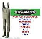 RON THOMPSON NEO-FORCE NEOPRENE CHEST BOOT WADERS FOR SEA COARSE FLY ROD FISHING