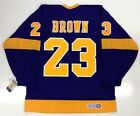 DUSTIN BROWN LOS ANGELES KINGS VINTAGE CCM PURPLE JERSEY
