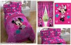 KIDS GIRLS DISNEY MINNIE MOUSE BEDDING BED IN A BAG / COMFORTER SET - 4 PRINTS