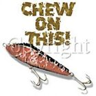 Fishing Sleeveless Denim Vest Chew On This Bait Hook Rod Boat Catch Fly Fish