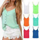 Women Sexy Chiffon Blouse Spagetti Strap Top Tank Top Camisole Vest Summer Shirt