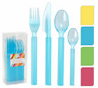 Heavy Duty Plastic Cutlery Set Knife Fork Spoon 24 Pieces Wedding Party Camping