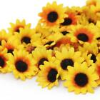 100x 38mm Daisy Gerbera Artificial Silk Flower Heads Wholesale Wedding Craft DIY
