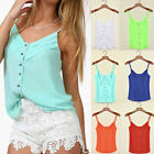 Sexy Womens Candy color Straps Summer Tops Camisole Tank Beach Tops Condole belt