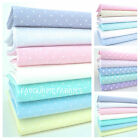 DOT & FLORAL DELICATE LAWN FABRIC poly cotton PASTEL COLOURS dots spots