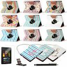 "For Amazon Kindle Fire HDX 7"" 2013 Rotating PU Leather Folio Case Cover Stand"