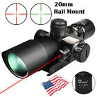 2.5-10x40 Tactical Rifle Scope Red Green Mil-dot illuminated w Red Laser Mount