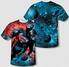 Superman Man Of Steel In Flight Space DC Comics All Over Print Youth T-shirt Top