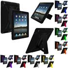 Hybrid Rugged Heavy Duty Case Cover Stand for iPad 4th 3rd 2nd Generation 4 3 2