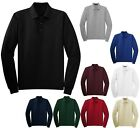 MEN'S EASY CARE, WRINKLE RESISTANT, LONG SLEEVE POLO SHIRT, S-XL 2X 3X 4X 5X 6X