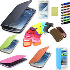 New Luxury Leather Flip Case Battery Cover For Samsung Galaxy S3 III Mini I8190