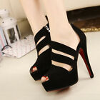Women's Sexy Peep Toe High Heel Shoes Platform Stiletto Pumps Sandals Shoes