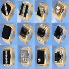 Cool Men 14k Gold Filled Enamel & Crystal Size 12 New Ring Jewelry In 12 Styles
