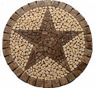 R Cafe au Lait TEXAS STAR MOSAIC MARBLE MEDALLION FOYER BACKSPLASH FLOOR BATH DE