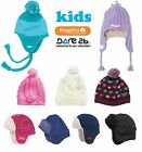 Regatta Dare2b Kids Pom Pom / Drop Ear Warm Winter Thermal Ski Hats Clearance