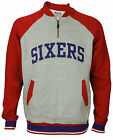 Zipway NBA Mens Big and Tall Philadelphia 76ers 1/4 Zip Pullover Sweatshirt