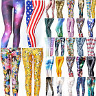 Sexy 3D Graphic Colourful Printed Women Leggings Pant Yoga Gym Funky Jegging