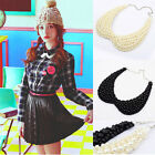 Retro Women Pearl beaded Peter Pan Collar Necklace Choker Collar Free Shipping