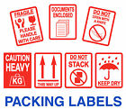 Packing Stickers - Fragile - Heavy - Keep Dry - Do Not Open With A Knife / Stack