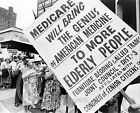 1965 SENIOR CITIZEN MEDICARE PROTEST MARCH UNION HISTORICAL PHOTO
