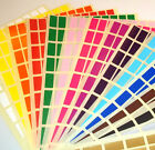 10 X 20mm Rectangle Colour Code Dots Blank Price Stickers Sticky Labels