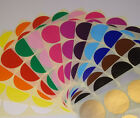20mm 25mm Round Stock Control Id Colour Code Dots Blank Stickers Sticky Labels