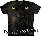 """Adult PANTHER CAT The Mountain T Shirt """"Black Panther Face"""" All Sizes 10-3246"""