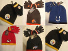 NFL TEAM APPAREL Reebok 2-4 Toddler Hat Gloves Choice Browns Bills Steelers NWT