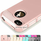 Hybrid Rugged Rubber Matte Hard Case Cover For iPhone 4 4S 4G + Screen Protector