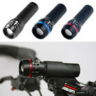 2 x zoomable Bike cycle Head Cree Q5Front Lights  SET+ REAR LED Lights UK STOCK