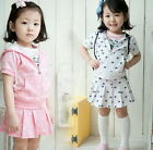 Girls Kids Tracksuit Outfit Tops Shirt Skirt 2Pcs 2-7Y Sportswear Dress Clothing