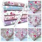 VERITY - VINTAGE FLORAL - POPLIN FABRIC 100% FINE COTTON craft FASHION