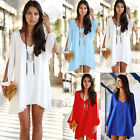 Fashion Women's Casual Loose Sleeveless Party Evening Cocktail Short Mini Dress