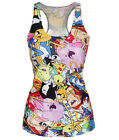 Punk Girl Digital Print Tank Top Vest Blouse Gothic Women Clubwear Party T-Shirt