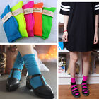 Candy Color Cotton Hosiery Fluorescent Natural Curling Neon Socks for Men Women