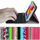 For Samsung Galaxy Tab 4 8.0 8-Inch Tablet Bluetooth Keyboard Leather Case Cover