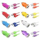 Mini DC Car Charger Adapter+Micro USB Data Charging Cable Cord For Mobile Phones