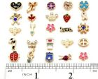 Wholesale Lots Mix Gold Plated Floating Charms for Glass Living Memory Lockets