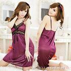 Exotic Women V-Neck Sexy Lingerie Babydoll Halter NightDress Pyjamas NightDress