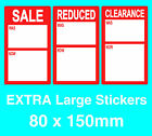XL Display Stand Point Of Sale Retail Price Stickers Sticky Tags Labels