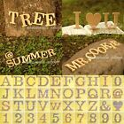 "10cm 4"" Wood Wooden Capital Letters Number Alphabet Bridal Wedding Party Decor"