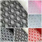 "per metre budget flower lace 44"" red, black, ivory, pink, silver, white FREE P&P"