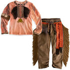 NEW Disney The Lone Ranger Tonto Boys 2 Piece Dress Up Costume Sz XS 4 S 5/6