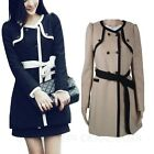 Wedding Solids Ladies Wool Dress Coat Double Trench Jacket Winter AU sz 6-10