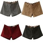 Short Shorts Cotton Blends Winter Boots Tweed Pants Plaid Shorts AU sz 6-14