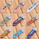 GEMSTONE Crystal Pendulum Sword Healing Point Reiki Chakra Pendants For Necklace