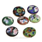 Colorful Wholesale New Great Equisite Coin Round Cloisonne Loose Beads