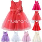 Flower Girl Formal Wedding Bridesmaid Party Christening Princess Dress 1-10 Yrs
